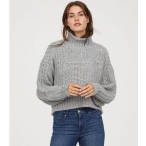 H&M Wool Blend Oversized Knit Turtleneck